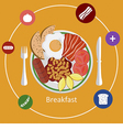 Concepts for breakfast time vector image