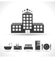 Five stars hotel concept vector image