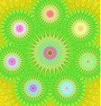 Multicolored fractal mandala background vector image