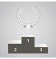 Pedestal and laurels vector image
