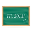 School Board with number of new year 2013 vector image