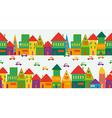 Cute multicolored city pattern vector image