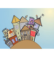 concept medieval town vector image