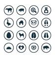 animals pets icons universal set vector image