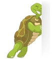Funny Turtle Pushing vector image vector image