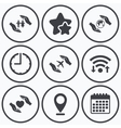Hands insurance icons Human life-assurance vector image