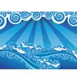 Cartoon Stormy Sea7 vector image