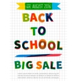 Back to school Big Sale banner vector image
