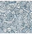 Cartoon hand-drawn doodles Vehicle theme vector image