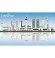 Casablanca Skyline with Gray Buildings vector image