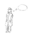 detective sketch vector image