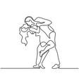happy loving couple dancing vector image