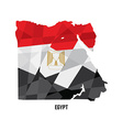 Map of Egypt vector image