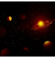 Starry background of deep outer space vector image