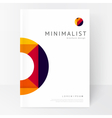 Minimalistic white brochure template vector image