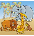 cute african animals cartoon vector image