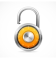 Combination Opened Lock Security Concept vector image