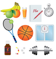 Fitness set vector image vector image