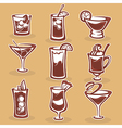 cocktails collection vector image vector image