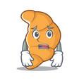 afraid croissant character cartoon style vector image