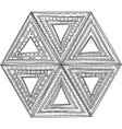 black and white pattern of triangles Coloring vector image