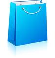Blue shopping bag vector image
