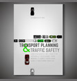 city traffic poster vector image