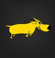dog character image vector image