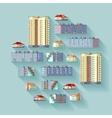 Dwelling buildings vector image