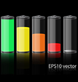 Glass Battery vector image