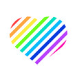 rainbow love heart symbol abstract graphic vector image