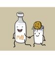 running milk vector image