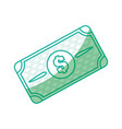 Silhouette bill dolar money vector image