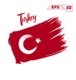 turkey flag brush strokes painted vector image