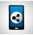 mobile phone app sharing icon vector image