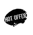 hot offer rubber stamp vector image