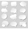 speech bubble collection vector image