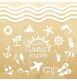 happy summer holiday icons for summer vector image