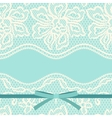 Vintage fashion lace ornament background with vector image vector image
