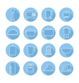 Set of kitchen appliances and tools web vector image