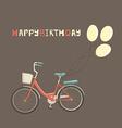 Birthday bike vector image
