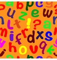 Seamless texture with English letters vector image