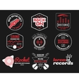Set of music production logolabel sticker vector image