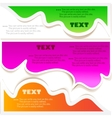 colorful bubbles for speech vector image