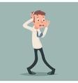 Vintage Businessman Suffer Emotion Fear Horror vector image vector image