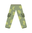 Camouflage trousers flat icon vector image