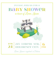 Baby Shower or Arrival Card - Baby Racoon vector image