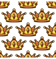 Cartoon emperor crowns seamless pattern vector image