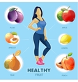Healthy fruit infographic vector image