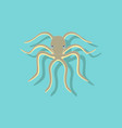 paper sticker on background of octopus vector image